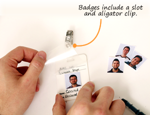 Self-Laminating Badges