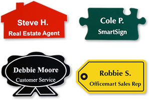 Custom Shape Name Badges