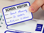 School Visitor Labels