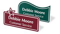 Custom Shape Name Badges