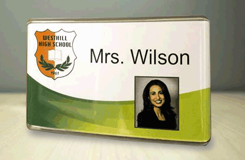 Contemporary Name Badge Sign Kit, Double Sided Holders ...