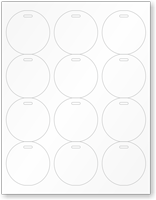 Eco-Friendly Recyclable White Cardstock Button Tags