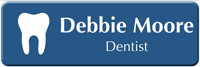 Customizable Dentist LaserLogo Name Badge with Tooth Symbol