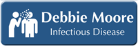 Custom Infectious Diseases Specialist LaserLogo Badge with Symbol