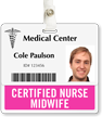 Certified Nurse Midwife Horizontal Id Badge Buddies