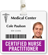 Certified Nurse Practitioner Horizontal Badge Buddies