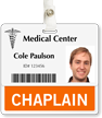 Chaplain Badge Buddy For Horizontal Id Cards