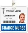 Charge Nurse Badge Buddy For Horizontal Id Cards