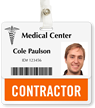 Contractor Badge Buddy For Horizontal ID Cards