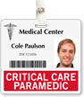 Critical Care Paramedic Horizontal Id Badge Buddies