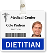 Dietitian Badge Buddy For Horizontal ID Cards