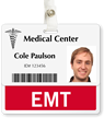 EMT Badge Buddy For Horizontal ID Cards