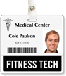Fitness Tech Badge Buddy For Horizontal Id Cards