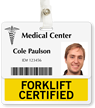 Forklift Certified Badge Buddy For Horizontal ID Cards