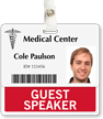 Guest Speaker Badge Buddy For Horizontal Id Cards