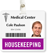 Housekeeping Badge Buddy For Horizontal ID Cards
