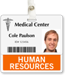 Human Resources Badge Buddy For Horizontal Id Cards