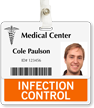 Infection Control Badge Buddy For Horizontal Id Cards