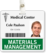Materials Management Horizontal Id Badge Buddy