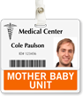 Mother Baby Unit Horizontal Id Cards Badge Buddy