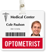 Optometrist Badge Buddy For Horizontal ID Cards