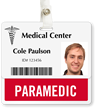 Paramedic Badge Buddy For Horizontal ID Cards