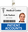 Patient Accounts Badge Buddy For Horizontal Id Cards