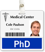 PhD Badge Buddy For Horizontal Id Cards