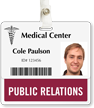 Public Relations Badge Buddy For Horizontal Id Cards