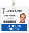 Student Nurse Badge Buddy For Horizontal ID Cards