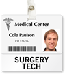 Surgery Tech Badge Buddy For Horizontal ID Cards