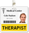 Therapist Badge Buddy For Horizontal Id Cards