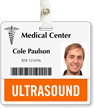 Ultrasound Badge Buddy For Horizontal Id Cards