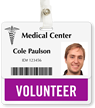 Volunteer Badge Buddy For Horizontal ID Cards