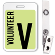 Volunteer Reusable Id Name Badge