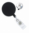 Badge Reel - Black/Chrome