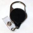 Badge Reel - No-Twist Carabiner - Black