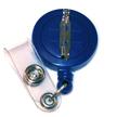 Economy Badge Reel, Pin-On - Blue