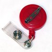 Economy Badge Reel, Pin-On - Red