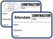 Custom Contractor Tab-Expiring Badge with Logo