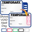 Tab-Expiring Temporary Labels Book