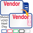 Tab-Expiring Vendor Labels Book