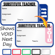 Tab-Expiring Substitute Teacher Labels Book