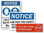 Lab Coat Signs