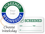 Screened Visitor Stickers & Badges