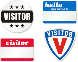 Visitor Badges and Visitor Labels