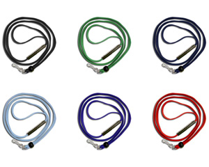 ID Badge lanyards are available in a wide variety of color and attachment options.