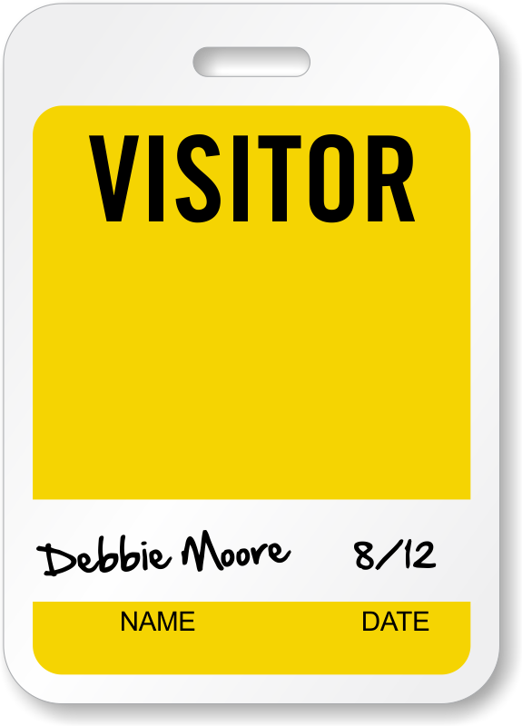 Visitor Badges Reusable Badges - Visitor badge template