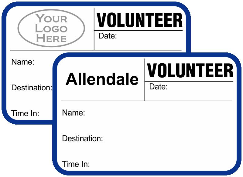 Custom Volunteer Badges