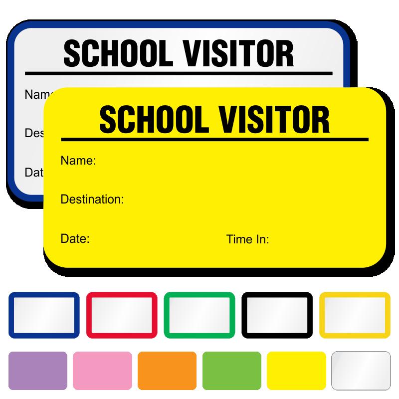 visitors badges template